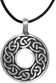leather necklace knot images Jewelry trends pewter celtic knot round ring pendant on black jpg