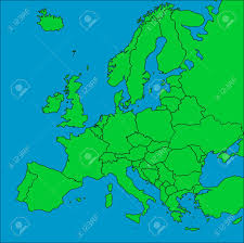 Map Of Europe With Countries by A Map Of Europe With All Countries Borders Represented Stock