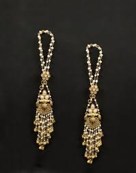 jhumka earrings online buy silver anusuya es 1849 kaan chain jhumka earrings online in