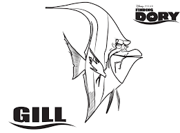 gill finding dory printable coloring page
