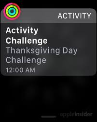apple issues 5k thanksgiving day activity challenge to apple