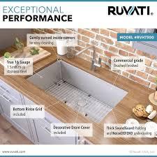 what size undermount sink fits in 30 inch cabinet ruvati 30 inch undermount 16 tight radius kitchen sink