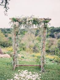 wedding arches and arbors bohemian wedding arbor with daisies deer pearl flowers