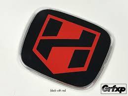 jdm mitsubishi logo h blade logo jdm emblem color changing overlays front u0026 rear set