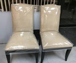 dinning chair covers clear plastic dining room chair covers alliancemv