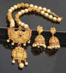gold antique necklace sets images Antique necklace set at rs 2599 piece bhuleshwar mumbai id jpg