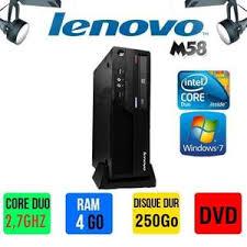 ordinateur de bureau windows 7 pas cher pc bureau lenovo m58 prix pas cher cdiscount