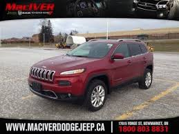 red jeep cherokee 2015 red jeep cherokee limited newmarket ontario maciver dodge