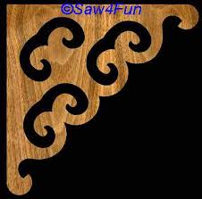 Wooden Shelf Bracket Patterns by Bracket 1 Scroll Saw Pattern