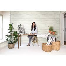 shiplap white and gray removable wallpaper magnolia home wallpaper