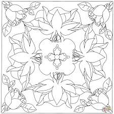 square mandala coloring page free printable coloring pages