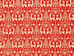 reindeer pole scandinavian cotton quilt