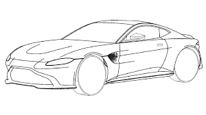 do these patent drawings show the new 2018 aston martin vantage