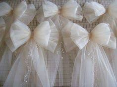 Wedding Pew Bows More Pew End Ideas Alternate Ivory Chair Sash And Roses With