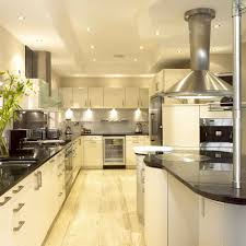 Stainless Steel Cabinets For Kitchen by Excellent L Shape Cream Color Wooden Kitchen Cabinets Featuring