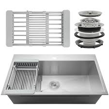 33 x 22 drop in kitchen sink akdy 33 x 22 drop in kitchen sink with adjustable tray and drain