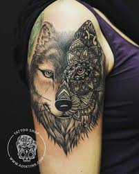 project beautiful wolf half mandala
