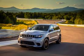 monster jeep grand cherokee 2018 jeep grand cherokee trackhawk born to run automotive rhythms