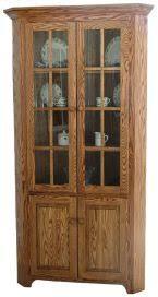 corner hutches u0026 china cabinets countryside amish furniture