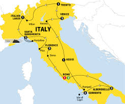 Map Of Central Italy by Grand Italian Experience Trafalgar