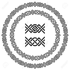 vector seamless ornamental knot frames royalty free cliparts