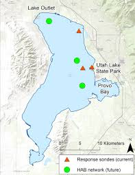 Map Of Utah by Maps Utah Lake Algal Bloom 2016 Utah Department Of