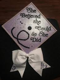 nursing graduation cap she believed she could so she did graduation cap just seeing