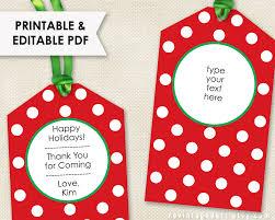 printable christmas tags editable holiday tags pdf modern
