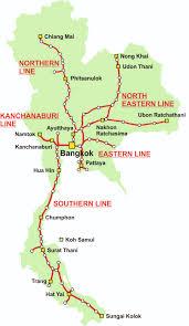 map of thailand thailand map thailand trains