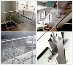 glass mounting clamp stainless steel handrail glass clamp used in