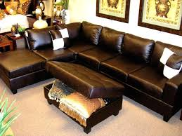 Martino Leather Sectional Sofa Lexington Brown Faux Leather Sectional Chaise Sofa