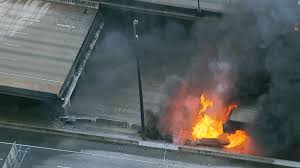 Atlanta Bypass Map I 85 Collapse Three Arrested After Major Fire Under Highway Cnn