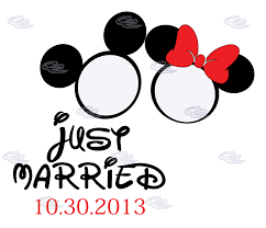 mickey and minnie wedding just married mickey minnie mouse heads wedding date shirts
