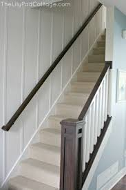 Banister Railing Ideas White And Gray Staircase With Wainscoting Built Ins Pinterest