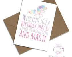 magic birthday card etsy