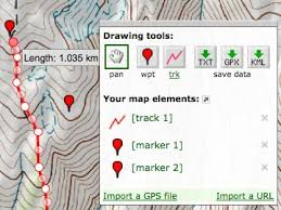 gps visualizer freehand drawing utility draw on a map and save