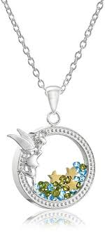 silver plated necklace images Disney silver plated tinkerbell silhouette shaker jpg