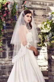 wedding veil styles mohair edged fingertip veil style v450f blanca