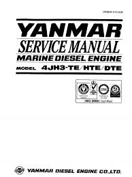 yanmar 4jh3 overhaul u0026 service manual