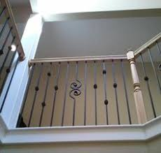 carpet steps with rod iron cost effective way to add oak