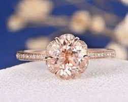 morganite engagement ring gold antique art deco women retro