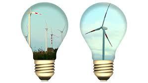 Solar Energy Lighting - wind turbine inside light bulb conceptual renewable energy video