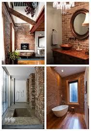cool bathroom designs cool bathroom designs with brick walls comfydwelling