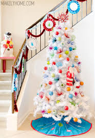 white christmas trees i m dreaming of a 1960s inspired brightly decorated white