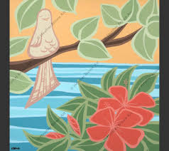 peaceful bird products heather brown art tropical hawaiian