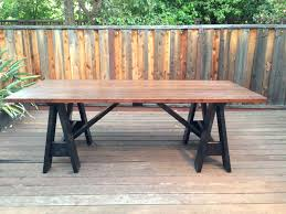 ana white sawhorse outdoor table by my lyon men diy projects