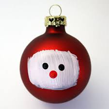 painted santa ornament craft snob