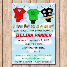 marvel baby shower lovely baby shower invitations photos invitation card