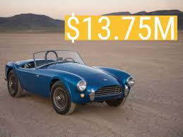 first mustang ever made this shelby cobra is the most expensive american car ever sold at