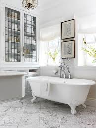 bathroom country bathroom with rectangle white clawfoot bathtub